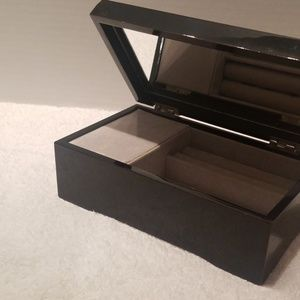 Black lacquered Musical  jewelry box